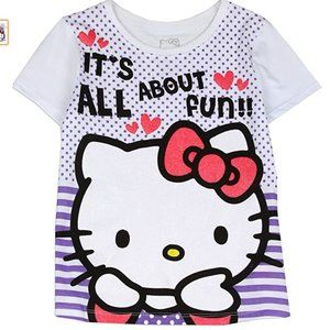 New Hello Kitty Lilac Girls Toddler T Shirt. NWOT